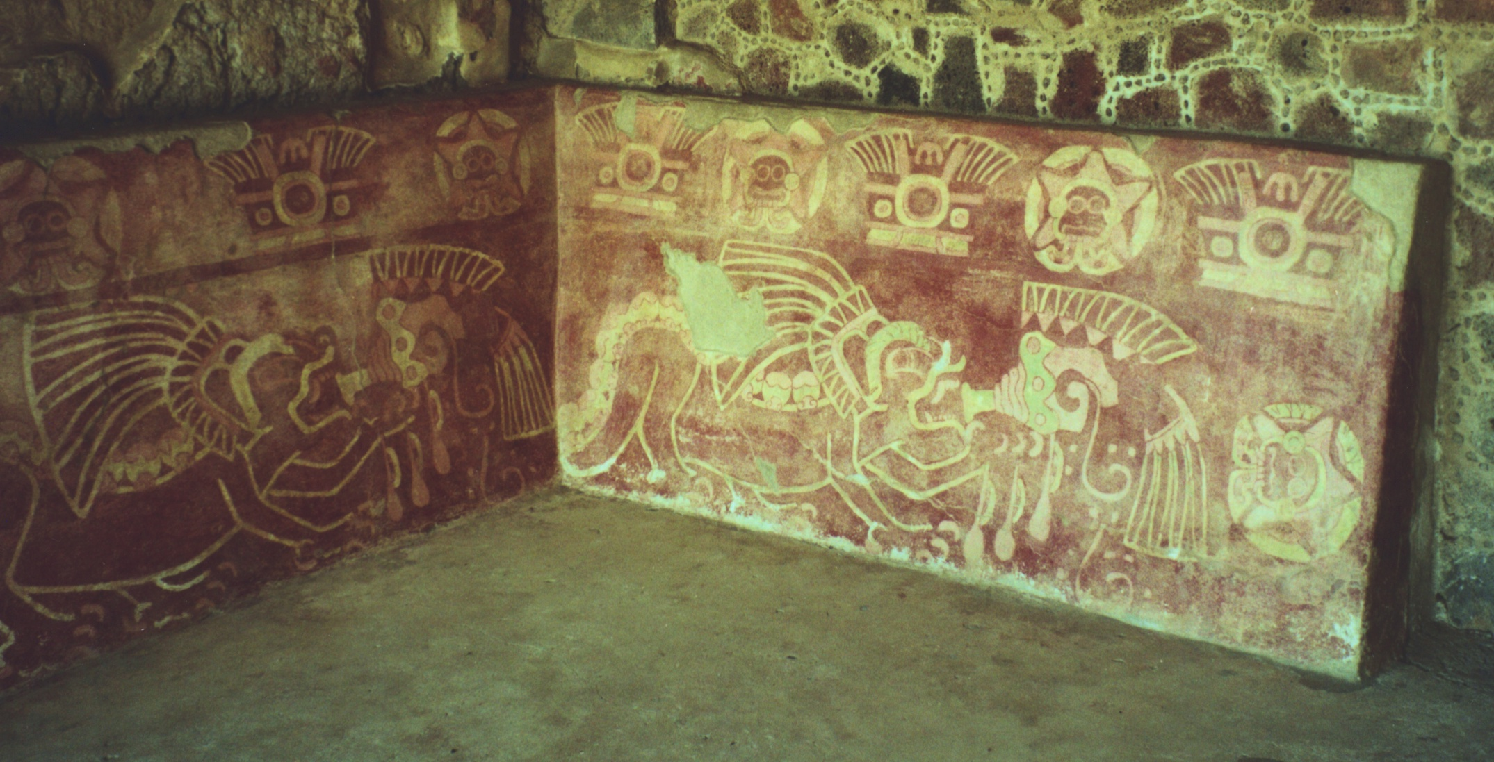 Image gallery for our mexico trip for Aztec mural painting